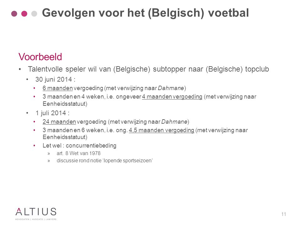 Gevolgen voor het (Belgisch) voetbal