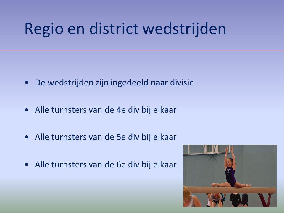 Regio en district wedstrijden