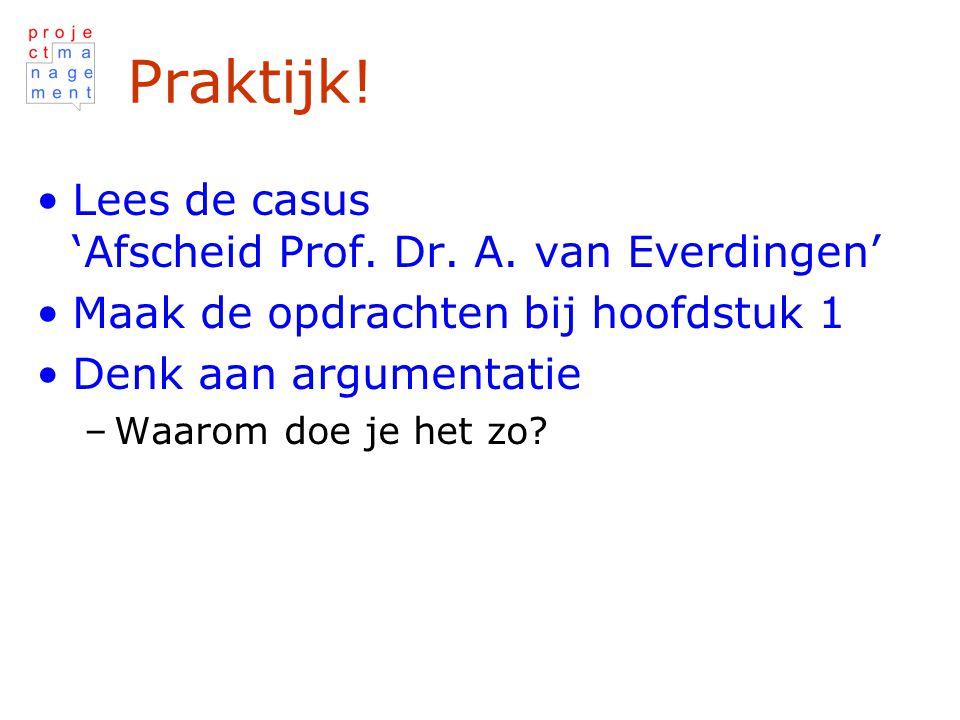 Praktijk! Lees de casus 'Afscheid Prof. Dr. A. van Everdingen'