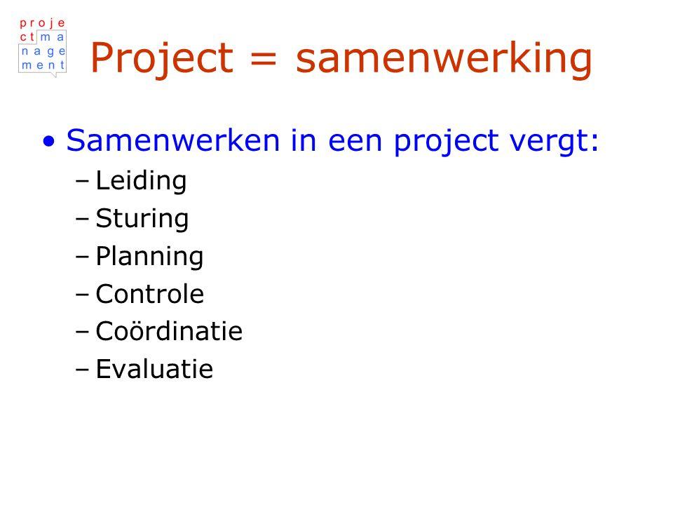Project = samenwerking
