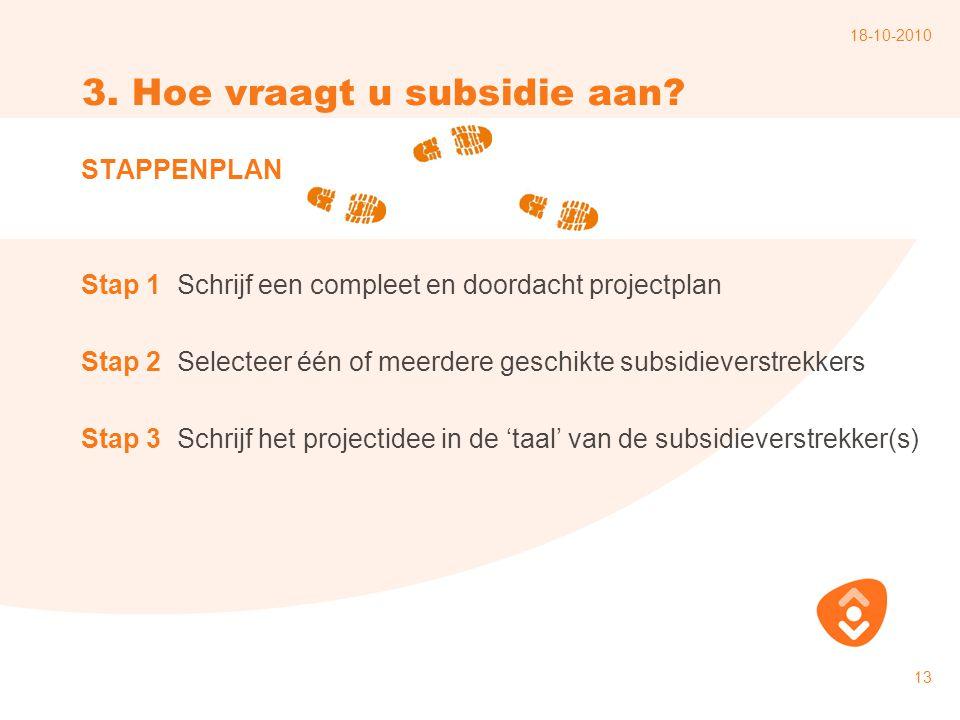 3. Hoe vraagt u subsidie aan