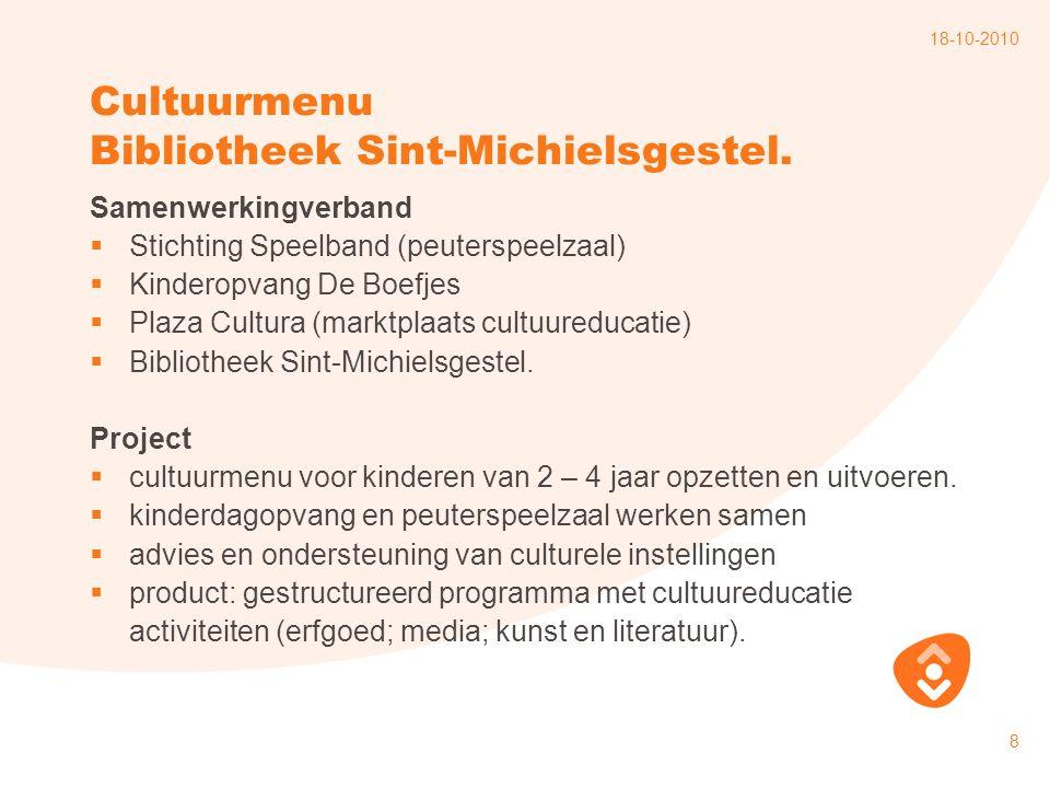 Cultuurmenu Bibliotheek Sint-Michielsgestel.