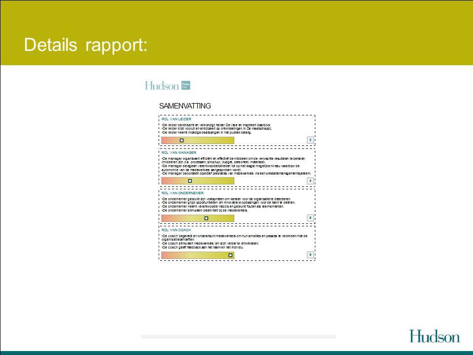 Details rapport: Overzicht van de 4 rollen. 4-5-6 is gemiddeld