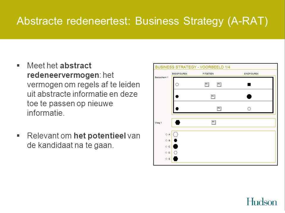 Abstracte redeneertest: Business Strategy (A-RAT)