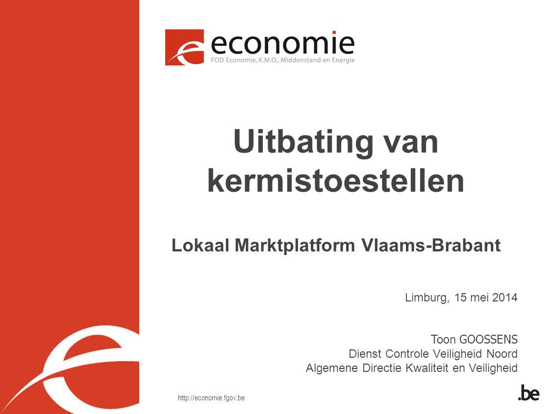 Uitbating van kermistoestellen Lokaal Marktplatform Vlaams-Brabant