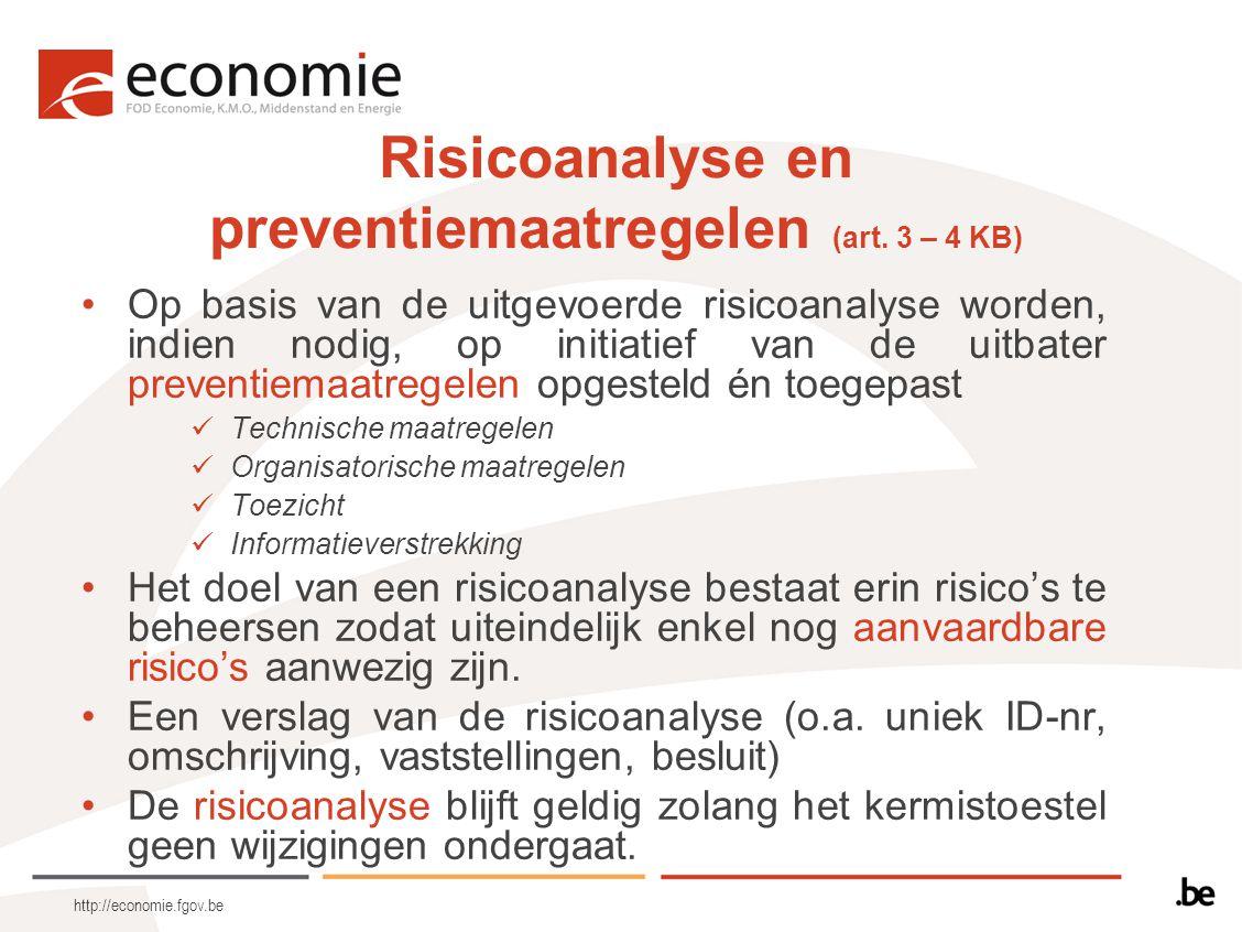 Risicoanalyse en preventiemaatregelen (art. 3 – 4 KB)