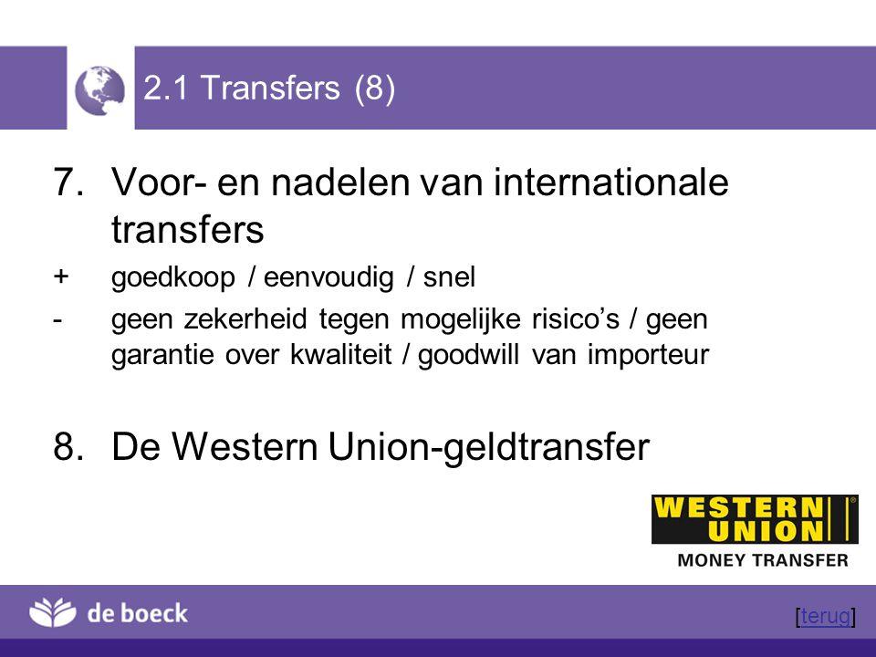 Voor- en nadelen van internationale transfers