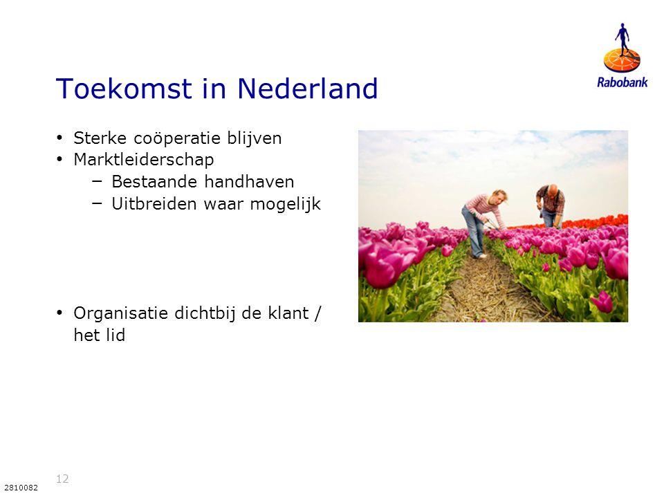 Toekomst in Nederland Sterke coöperatie blijven Marktleiderschap