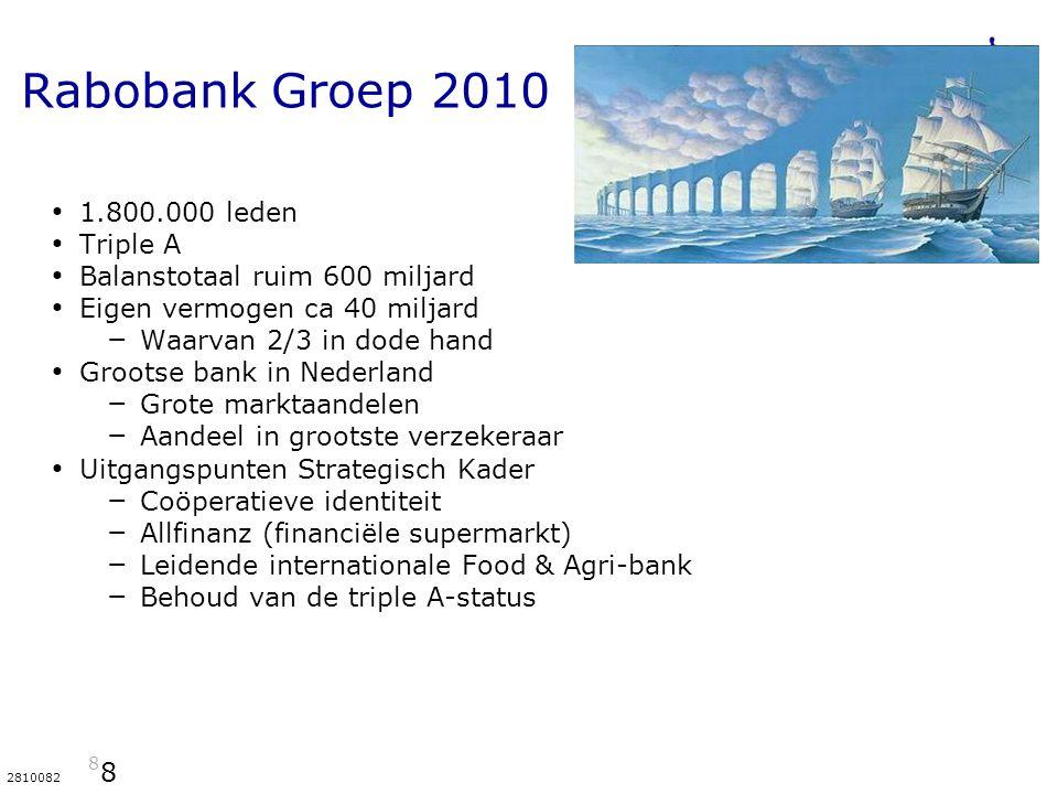 Rabobank Groep 2010 1.800.000 leden Triple A