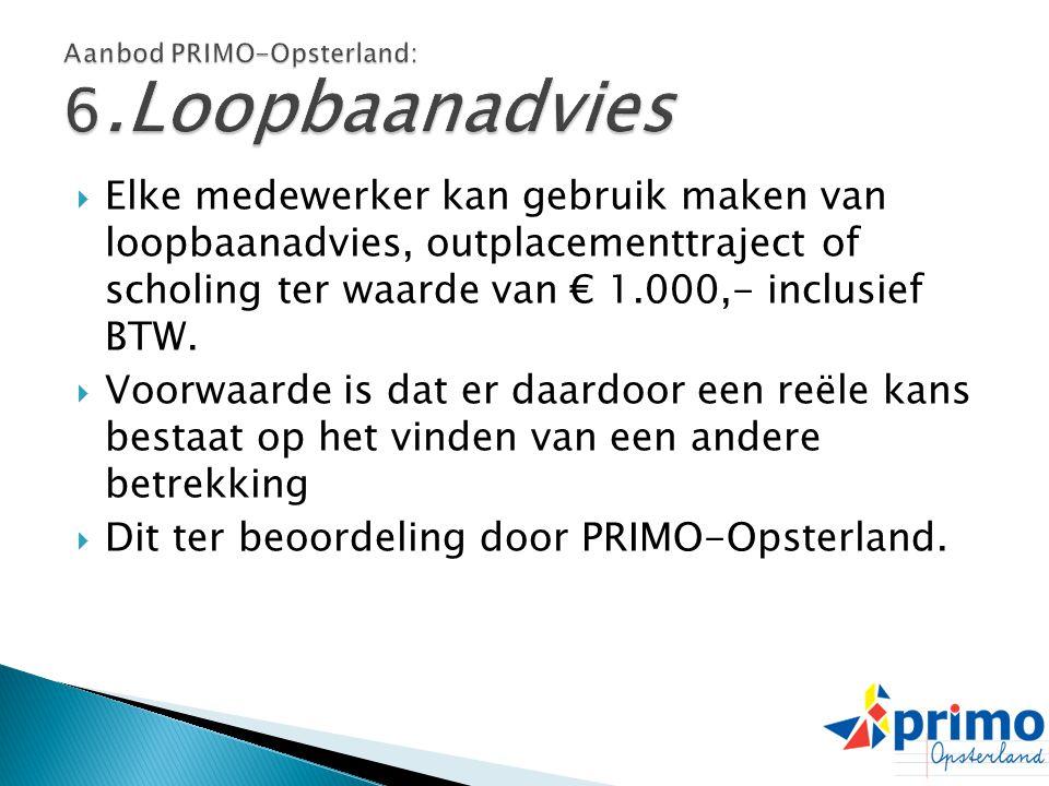 Aanbod PRIMO-Opsterland: 6.Loopbaanadvies