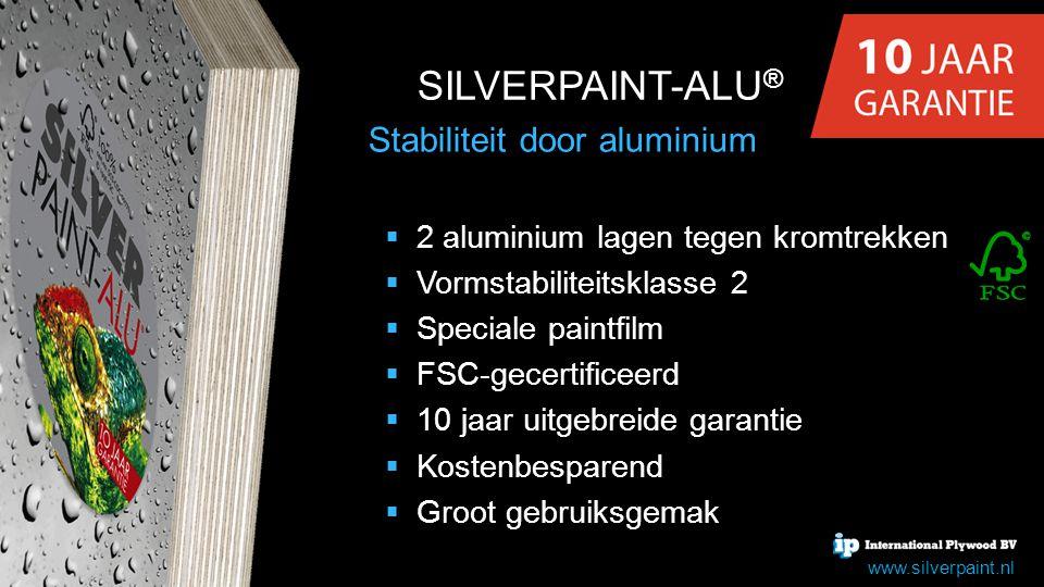 SILVERPAINT-ALU® Stabiliteit door aluminium
