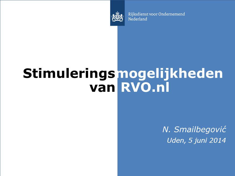 Stimuleringsmogelijkheden van RVO.nl