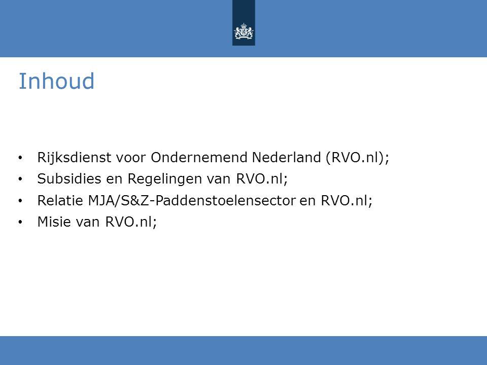 Inhoud Rijksdienst voor Ondernemend Nederland (RVO.nl);