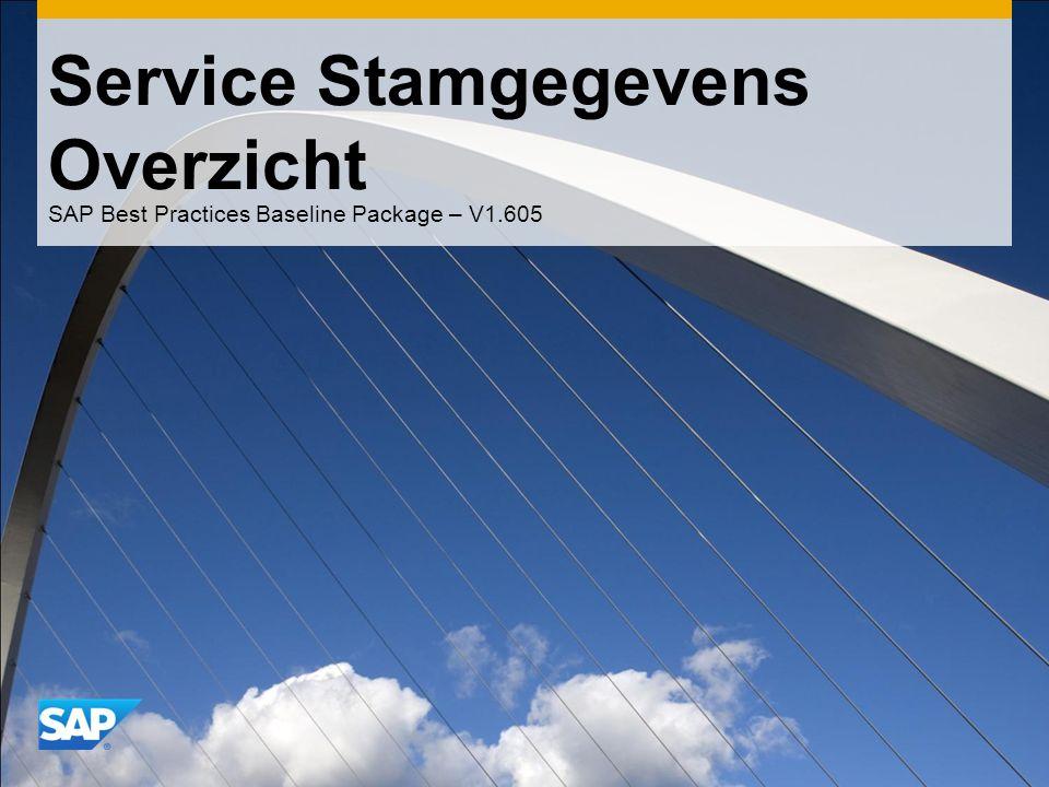 Service Stamgegevens Overzicht