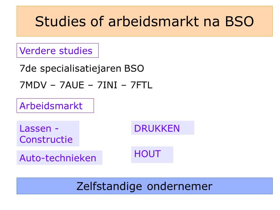 Studies of arbeidsmarkt na BSO
