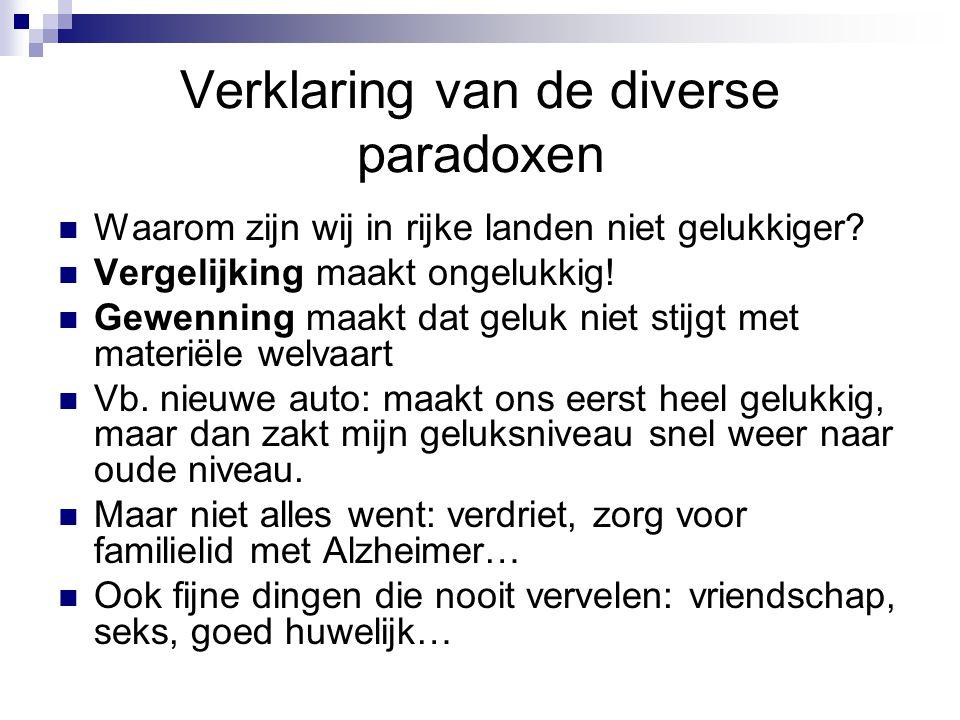 Verklaring van de diverse paradoxen