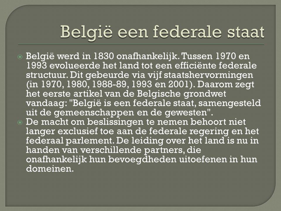 België een federale staat