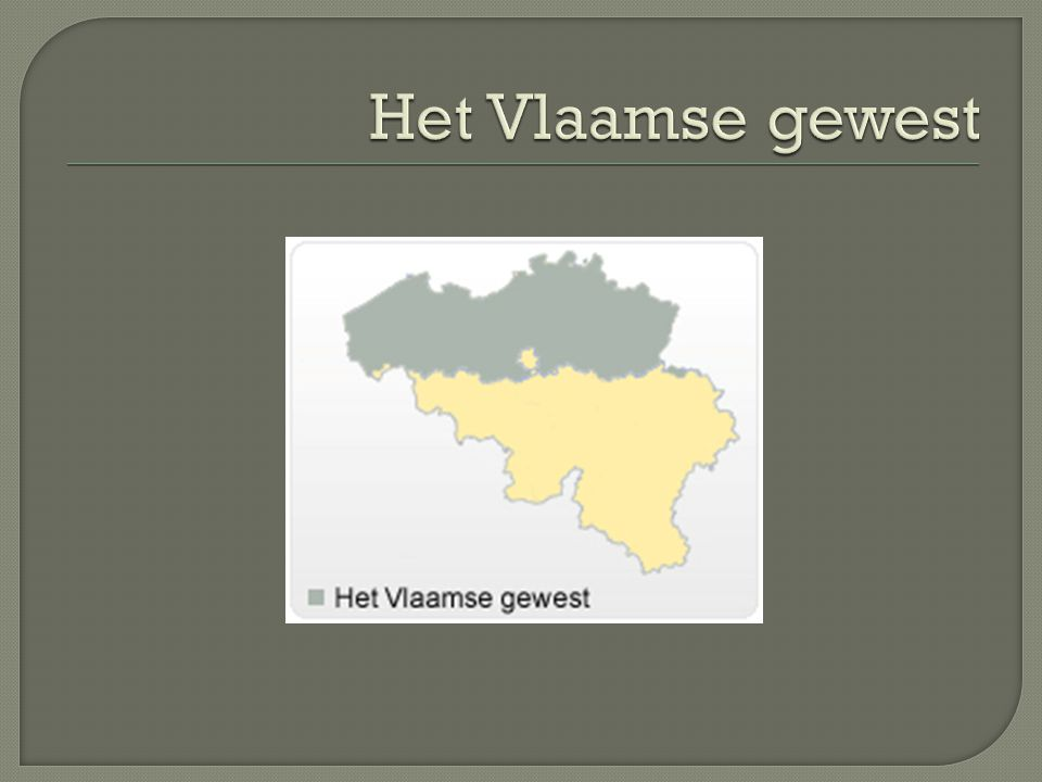 Het Vlaamse gewest