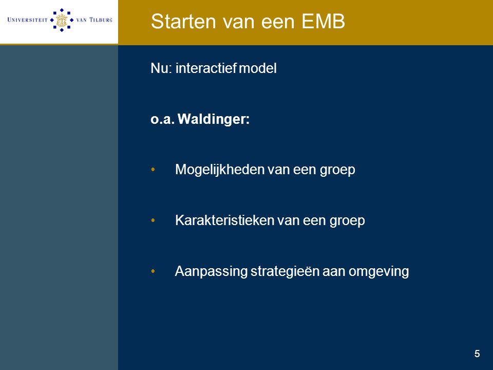 Starten van een EMB Nu: interactief model o.a. Waldinger: