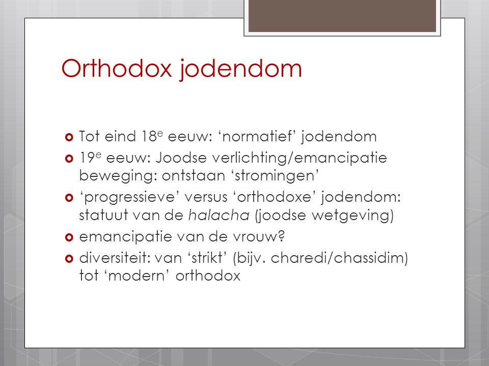 Orthodox jodendom Tot eind 18e eeuw: 'normatief' jodendom