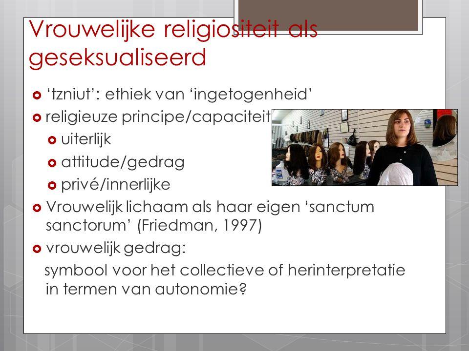 Vrouwelijke religiositeit als geseksualiseerd