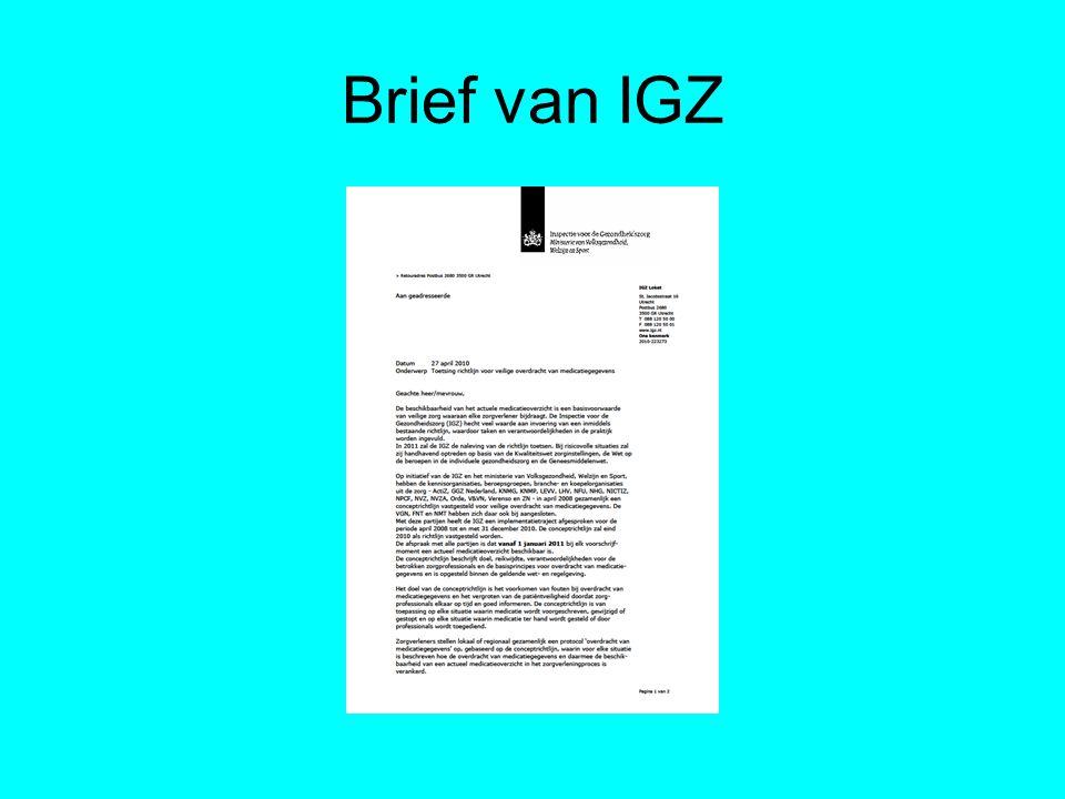 Brief van IGZ
