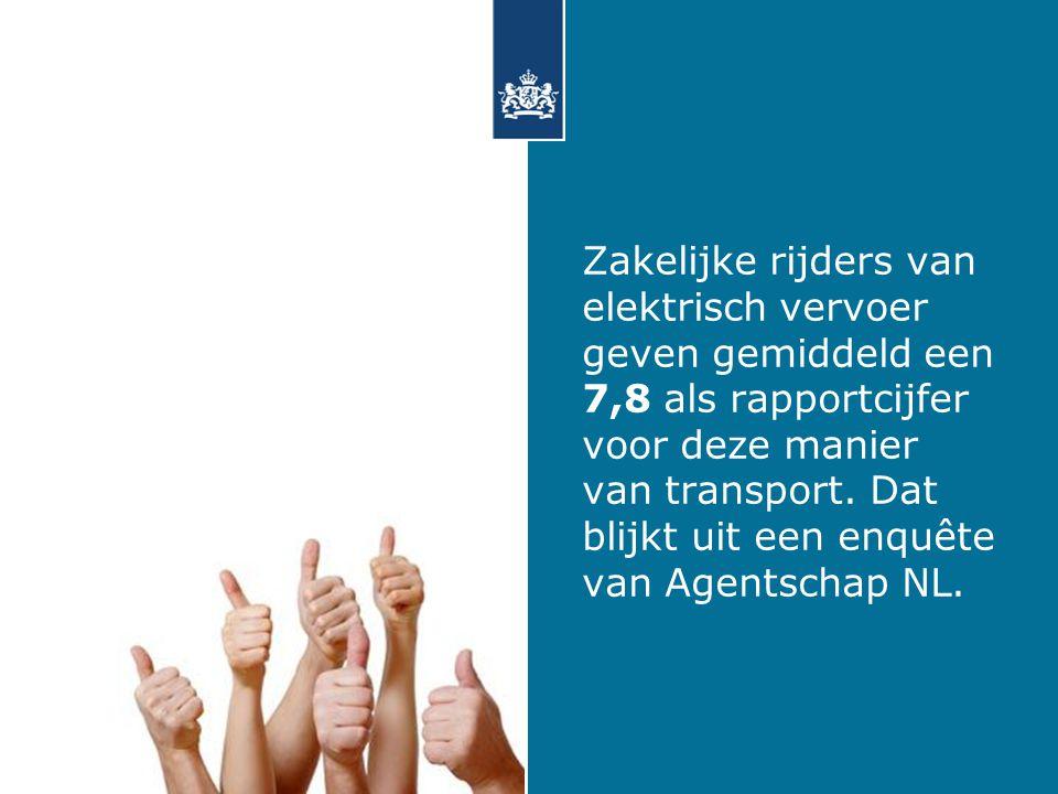 Zakelijke rijders van elektrisch vervoer geven gemiddeld een 7,8 als rapportcijfer voor deze manier van transport.