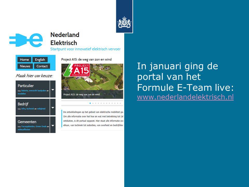 In januari ging de portal van het Formule E-Team live: www