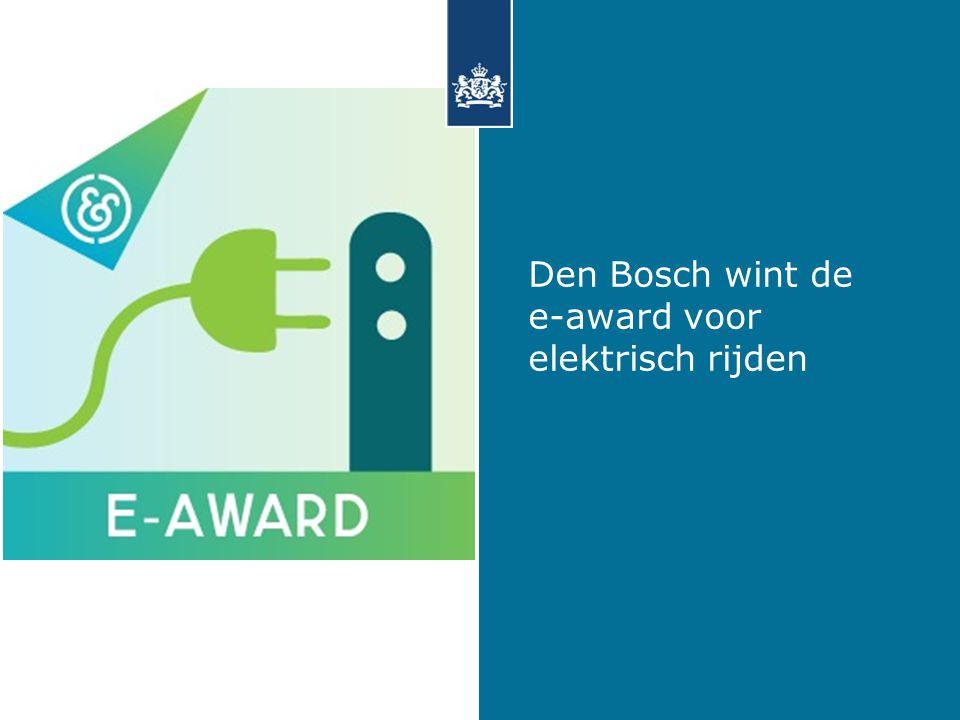 Den Bosch wint de e-award voor elektrisch rijden