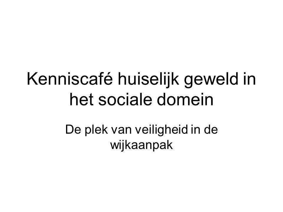 Kenniscafé huiselijk geweld in het sociale domein