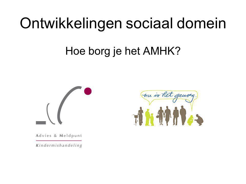 Ontwikkelingen sociaal domein