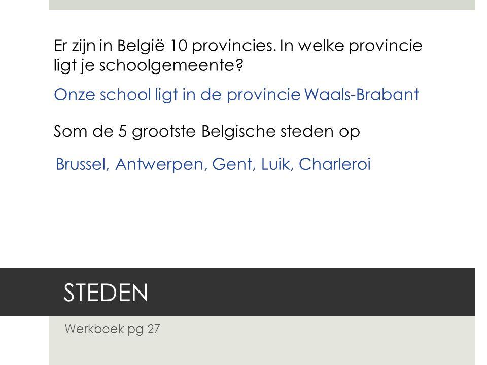 Er zijn in België 10 provincies