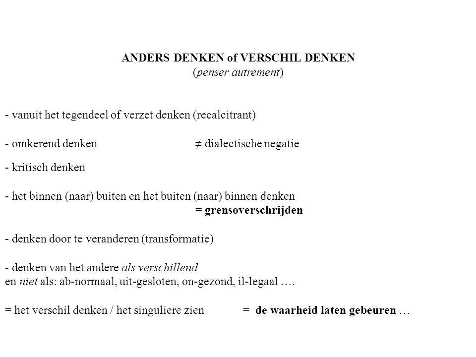 ANDERS DENKEN of VERSCHIL DENKEN