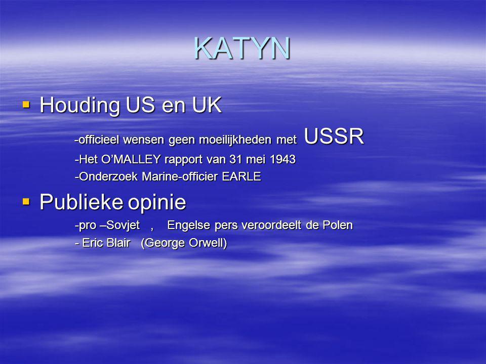 KATYN Houding US en UK -officieel wensen geen moeilijkheden met USSR