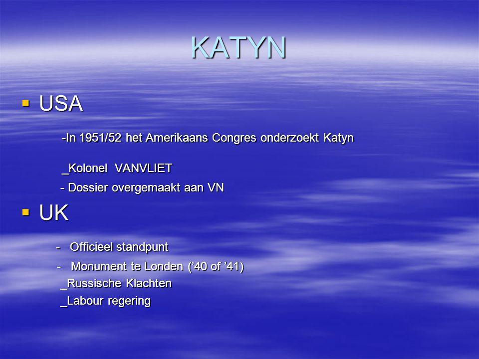 KATYN USA -In 1951/52 het Amerikaans Congres onderzoekt Katyn