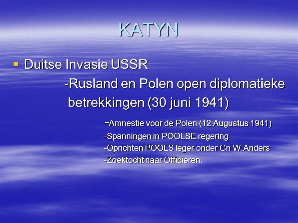 KATYN Duitse Invasie USSR -Rusland en Polen open diplomatieke