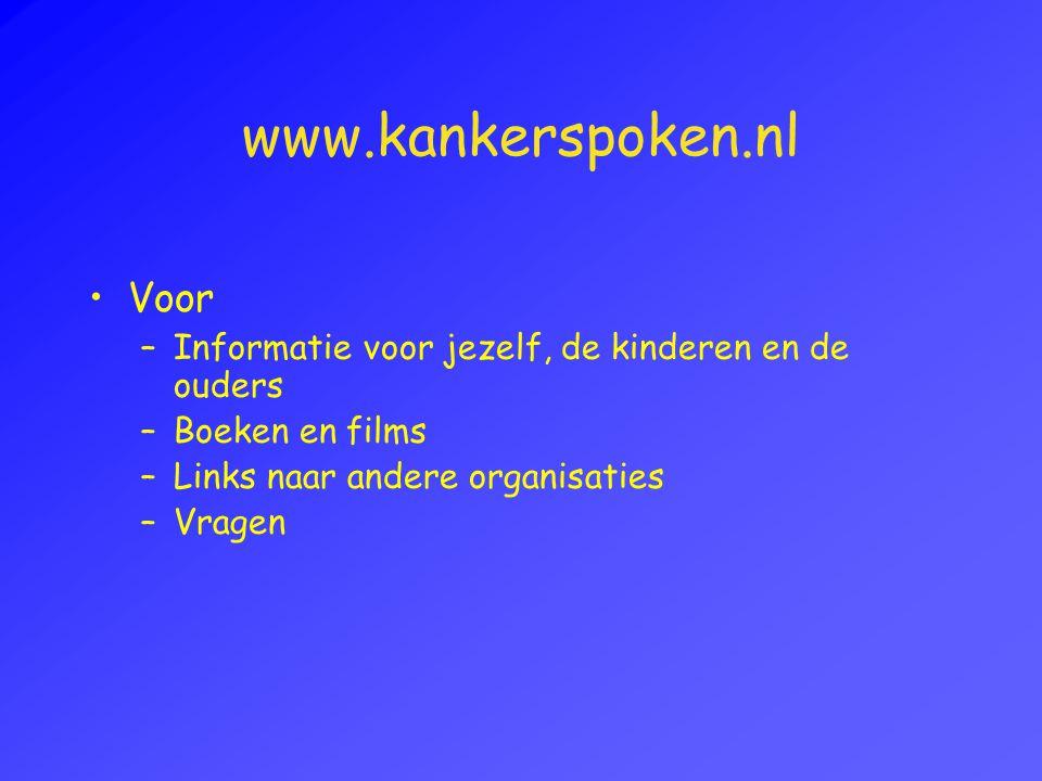www.kankerspoken.nl Voor