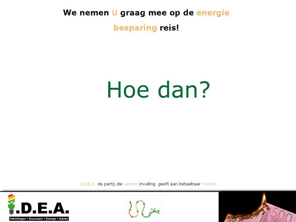 We nemen U graag mee op de energie