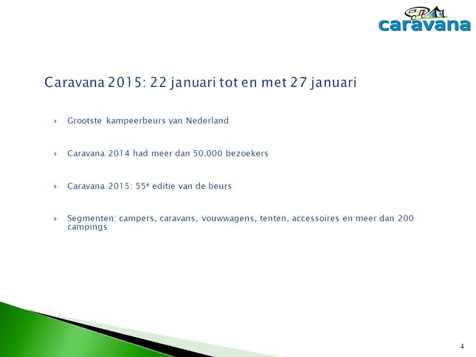 Caravana 2015: 22 januari tot en met 27 januari