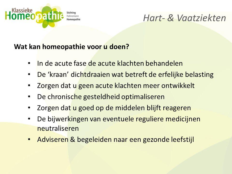 Hart- & Vaatziekten Wat kan homeopathie voor u doen