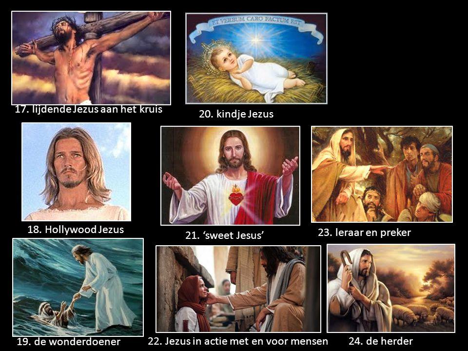17. lijdende Jezus aan het kruis