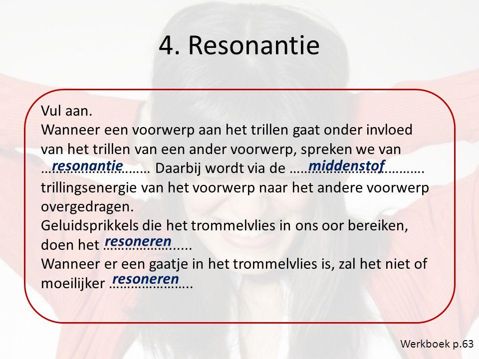 4. Resonantie Vul aan.