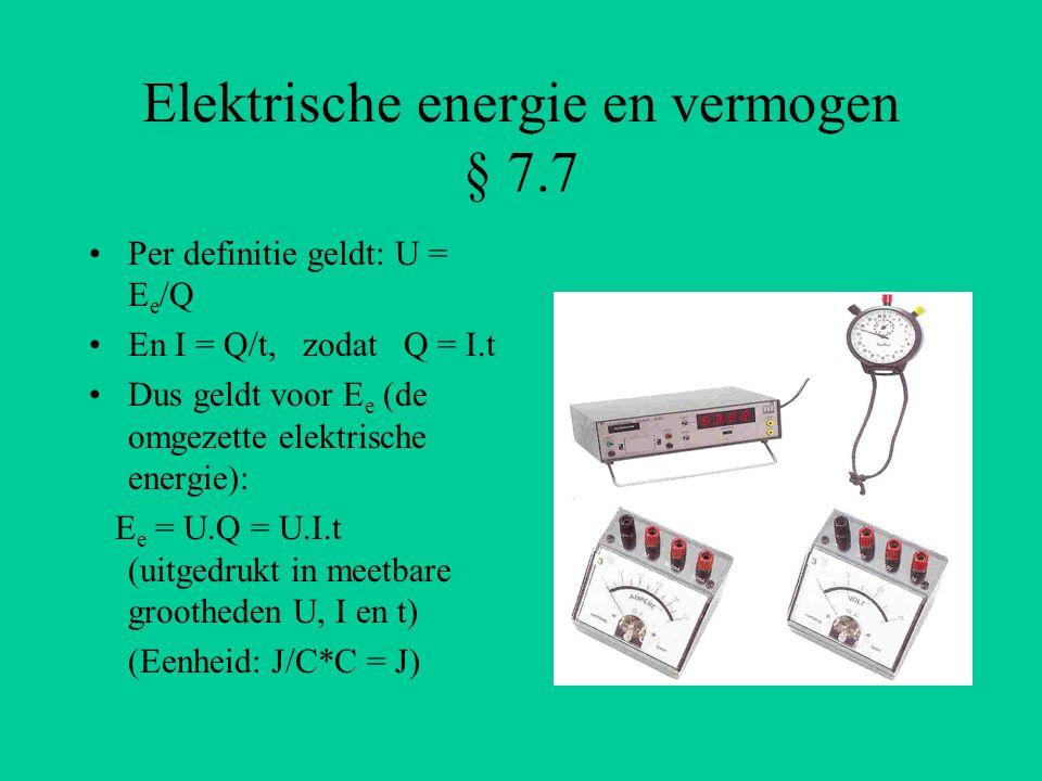 Elektrische energie en vermogen § 7.7