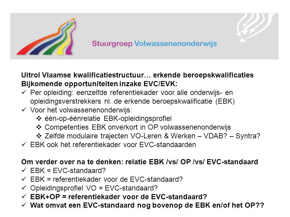 Uitrol Vlaamse kwalificatiestructuur… erkende beroepskwalificaties