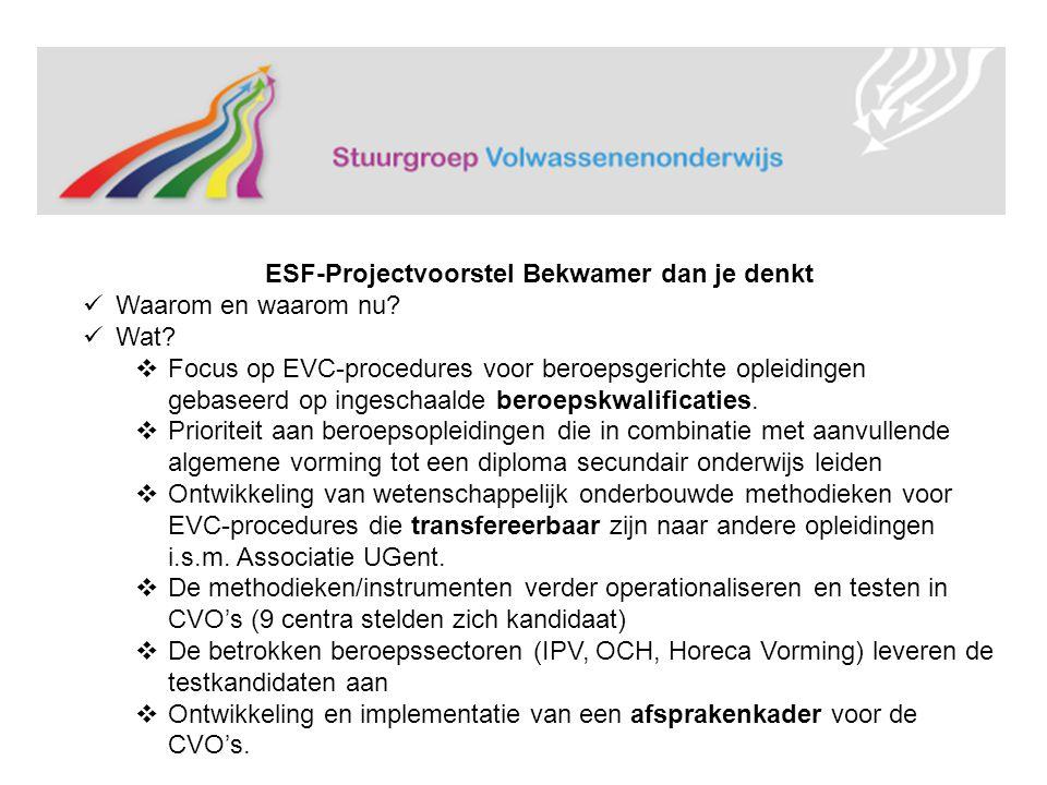 ESF-Projectvoorstel Bekwamer dan je denkt