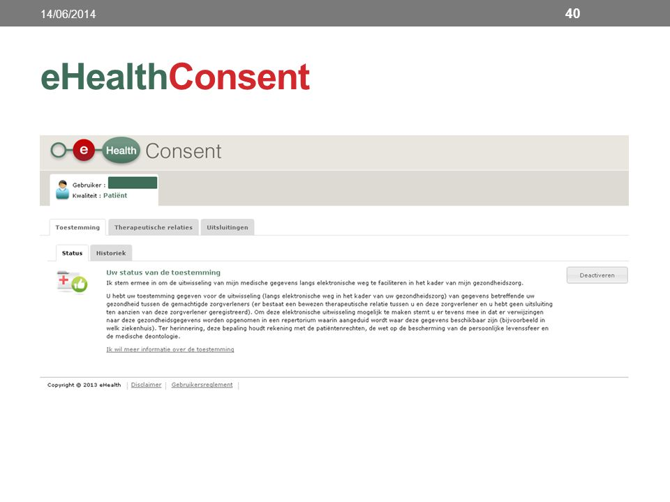 14/06/2014 eHealthConsent