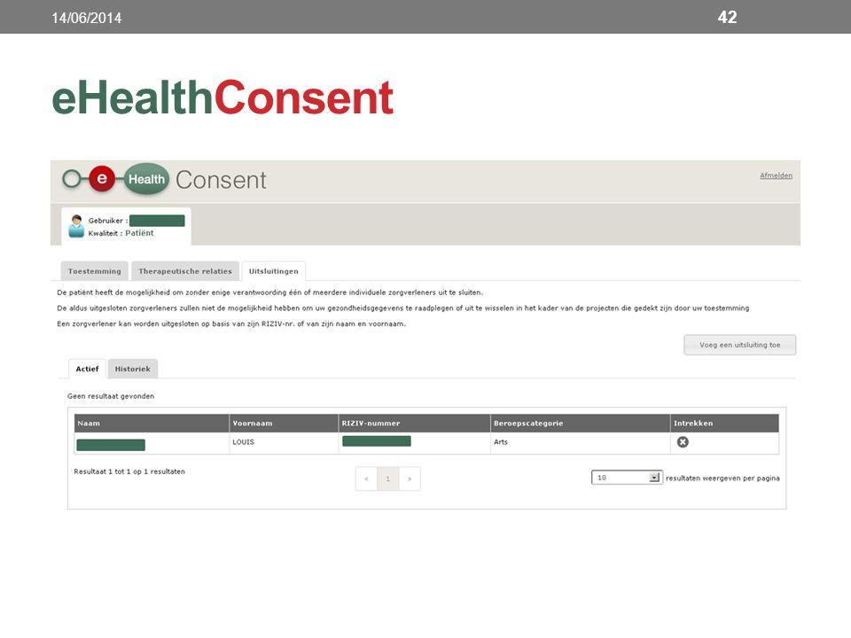 14/06/2014 eHealthConsent
