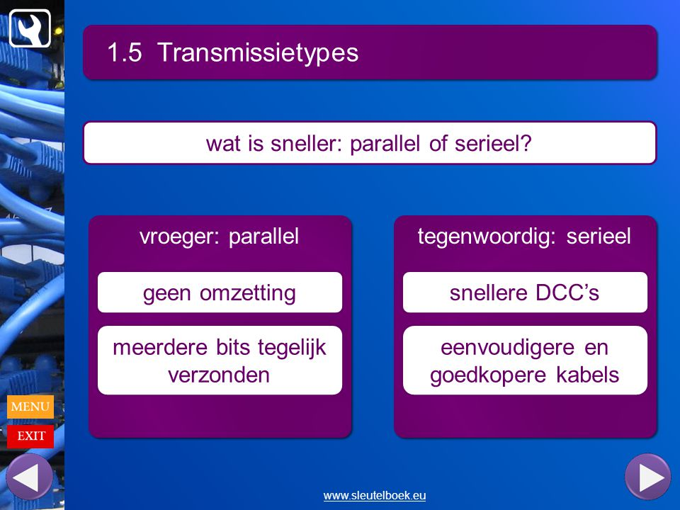 1.5 Transmissietypes wat is sneller: parallel of serieel
