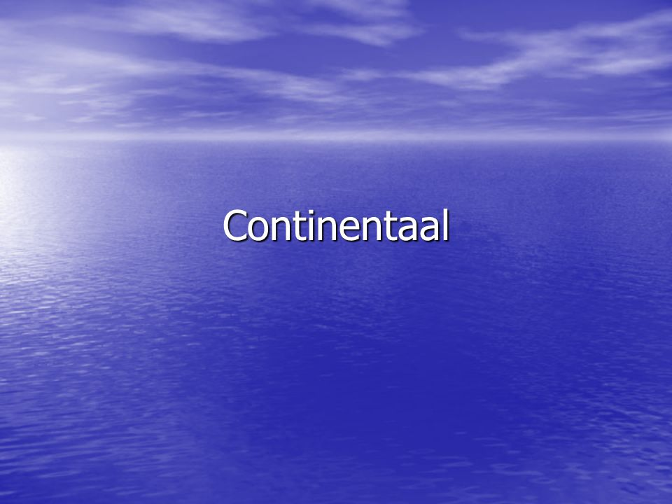 Continentaal