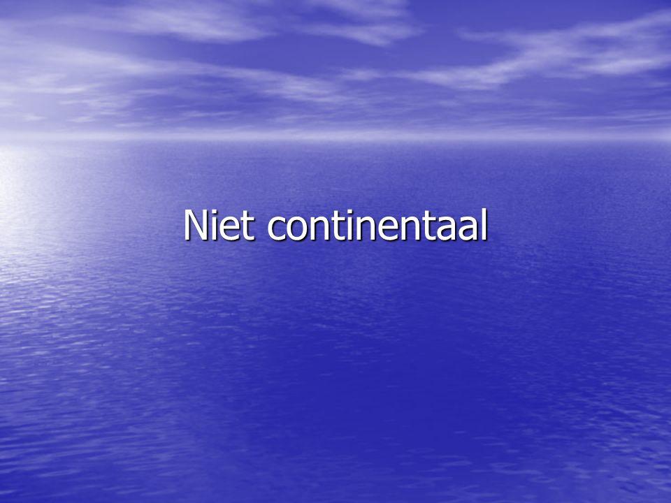 Niet continentaal